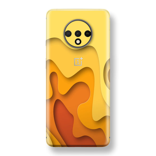 OnePlus 7T Print Custom SIGNATURE Orange-Yellow CARVING Skin, Wrap, Decal, Protector, Cover by EasySkinz | EasySkinz.com