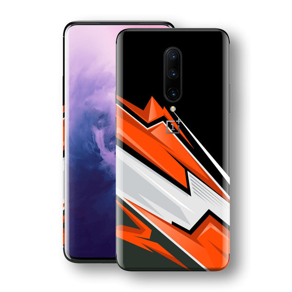 OnePlus 7T PRO Print Custom SIGNATURE Adventure ORANGE Racing Skin, Wrap, Decal, Protector, Cover by EasySkinz | EasySkinz.com