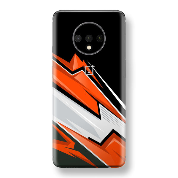 OnePlus 7T Print Custom SIGNATURE Adventure ORANGE Racing Skin, Wrap, Decal, Protector, Cover by EasySkinz | EasySkinz.com