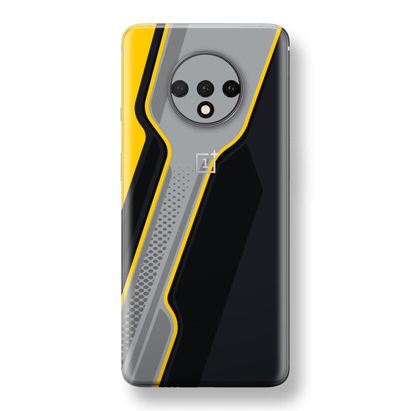 OnePlus 7T Print Custom SIGNATURE Adventure YELLOW Racing Skin, Wrap, Decal, Protector, Cover by EasySkinz | EasySkinz.com