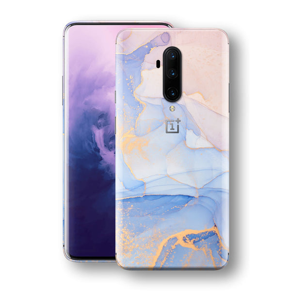 OnePlus 7T PRO Print Custom SIGNATURE AGATE GEODE Pastel-Gold Skin, Wrap, Decal, Protector, Cover by EasySkinz | EasySkinz.com