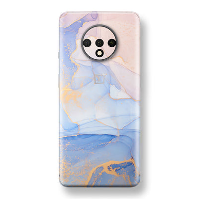 OnePlus 7T Print Custom SIGNATURE AGATE GEODE Pastel-Gold Skin, Wrap, Decal, Protector, Cover by EasySkinz | EasySkinz.com