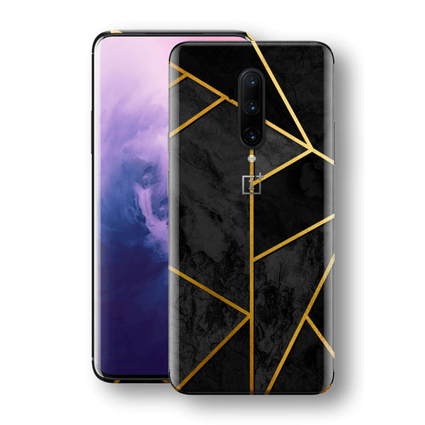 OnePlus 7T PRO Print Custom SIGNATURE Black-Gold Geometric Skin, Wrap, Decal, Protector, Cover by EasySkinz | EasySkinz.com