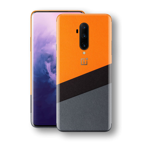 OnePlus 7T PRO Print Custom SIGNATURE Orange-Black PAPER Skin, Wrap, Decal, Protector, Cover by EasySkinz | EasySkinz.com