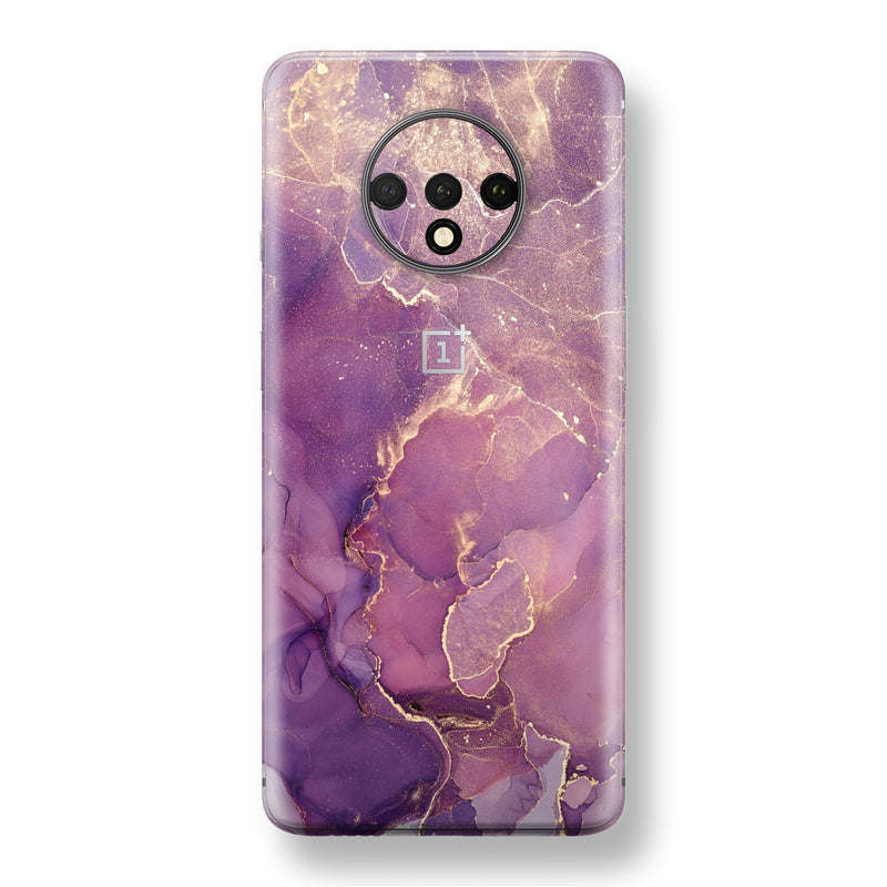 OnePlus 7T Print Custom SIGNATURE AGATE GEODE Purple-Gold Skin, Wrap, Decal, Protector, Cover by EasySkinz | EasySkinz.com