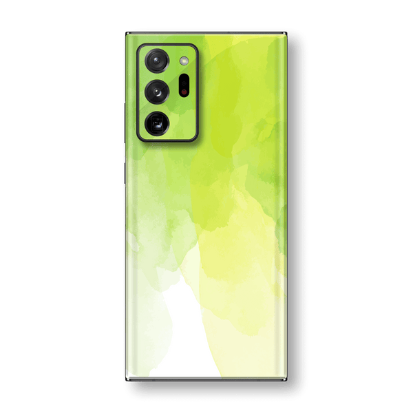 Samsung Galaxy NOTE 20 ULTRA Print Printed Custom SIGNATURE Lime Green Watercolour Skin Wrap Sticker Decal Cover Protector by EasySkinz