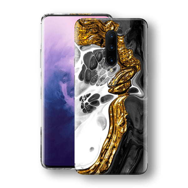 OnePlus 7T PRO Print Custom SIGNATURE Abstract MELTED Gold Skin, Wrap, Decal, Protector, Cover by EasySkinz | EasySkinz.com