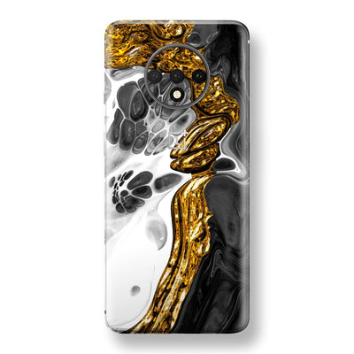 OnePlus 7T Print Custom SIGNATURE Abstract MELTED Gold Skin, Wrap, Decal, Protector, Cover by EasySkinz | EasySkinz.com