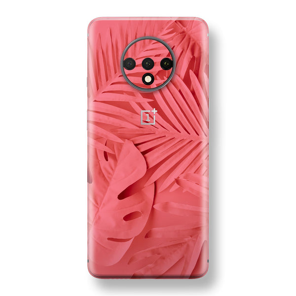 OnePlus 7T Print Custom SIGNATURE AMARANTH Tropical Leaf Skin, Wrap, Decal, Protector, Cover by EasySkinz | EasySkinz.com