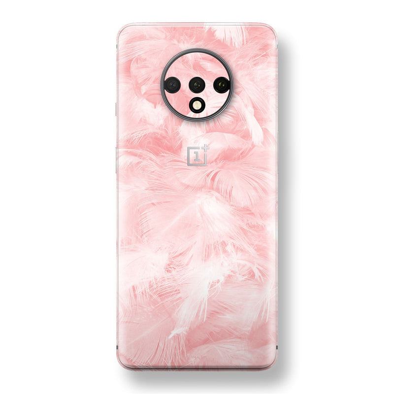 OnePlus 7T Print Custom SIGNATURE Pink FEATHER Skin, Wrap, Decal, Protector, Cover by EasySkinz | EasySkinz.com