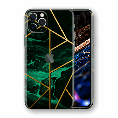 iPhone 11 PRO SIGNATURE Liquid Green-Gold Geometric Skin, Wrap, Decal, Protector, Cover by EasySkinz | EasySkinz.com