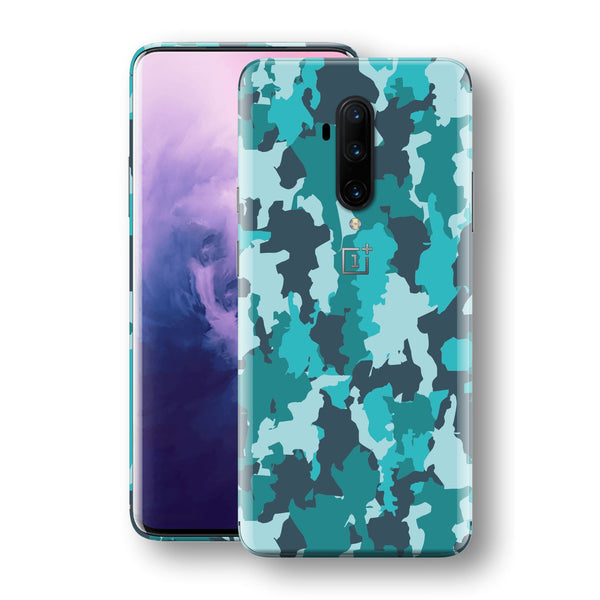 OnePlus 7T PRO Print Custom SIGNATURE Camouflage Turquoise Skin, Wrap, Decal, Protector, Cover by EasySkinz | EasySkinz.com