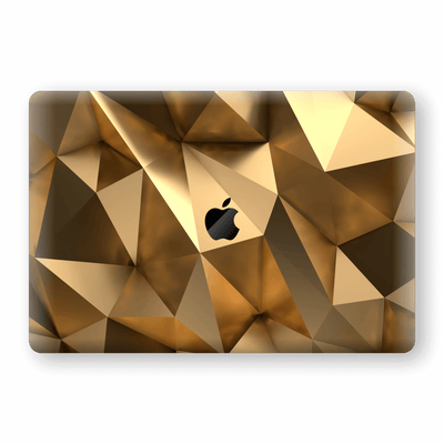 "MacBook Pro 15"" Touch Bar Print Custom Signature Gold Mirror Skin Wrap Decal by EasySkinz"
