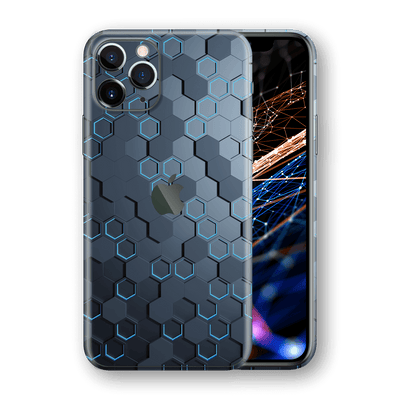 iPhone 11 PRO SIGNATURE Blue HEXAGON Skin, Wrap, Decal, Protector, Cover by EasySkinz | EasySkinz.com