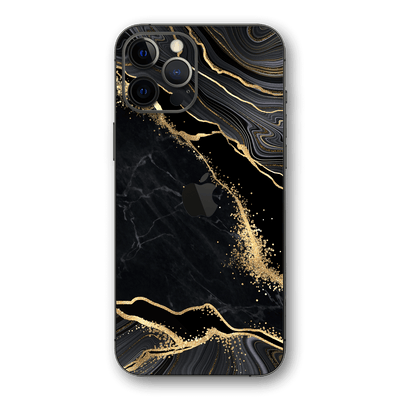 iPhone 12 Pro MAX SIGNATURE AGATE GEODE Black-Gold Skin, Wrap, Decal, Protector, Cover by EasySkinz | EasySkinz.com