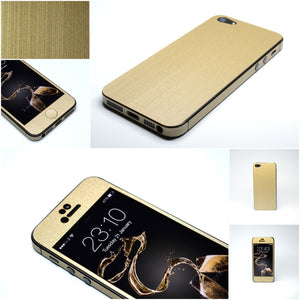 Premium 3D Textured BRUSHED METAL Skin for iPhone 5S 5 4 4S