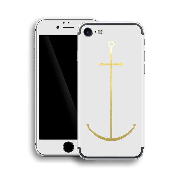 iPhone 7 Anchor Custom Design Matt White Skin Wrap Decal Protector Cover | EasySkinz