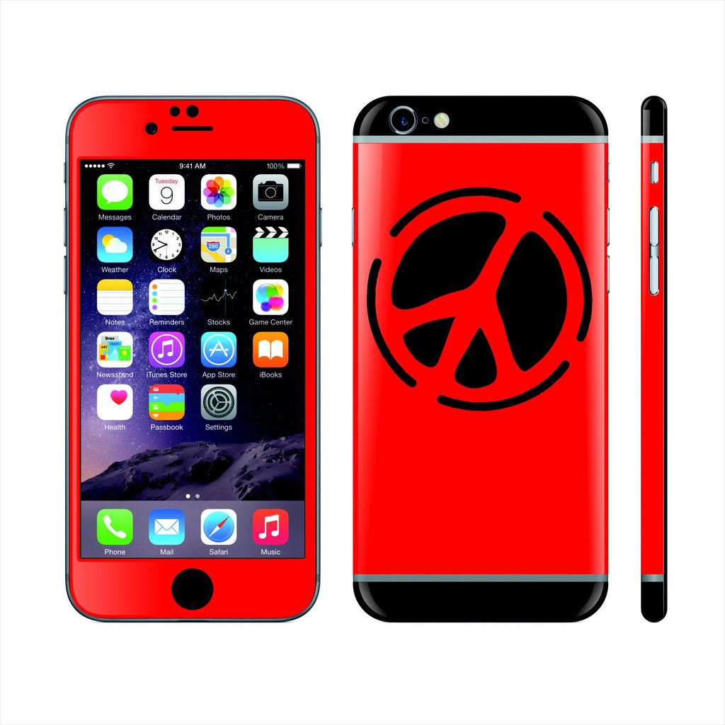 iPhone 6S Custom Colorful Design Edition Peace 004 Skin Wrap Sticker Cover Decal Protector by EasySkinz
