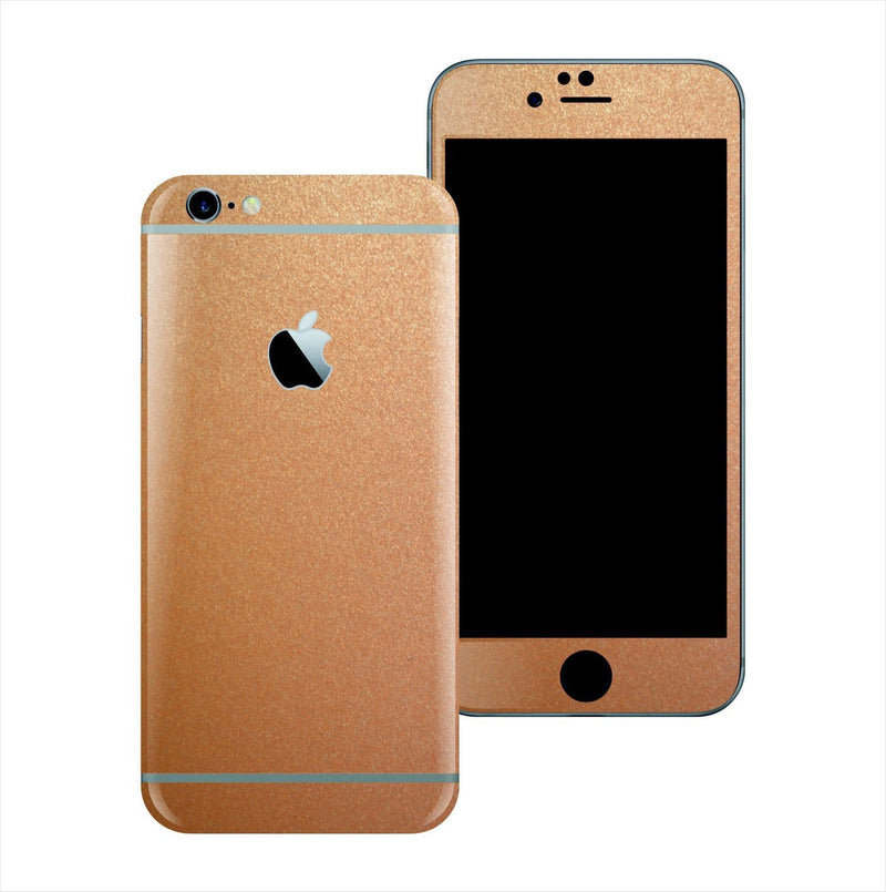 iPhone 6 Plus 3M Copper Matt Matte Metallic Skin Wrap Sticker Cover Protector Decal by EasySkinz