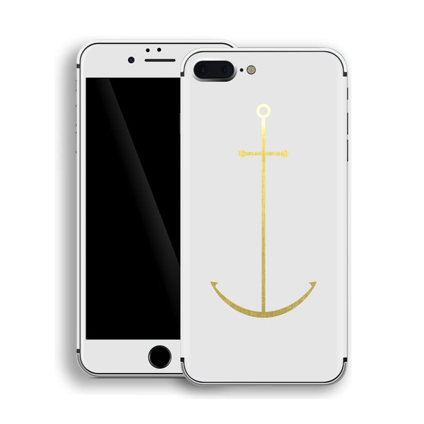 iPhone 8 Plus Anchor Custom Design Matt White Skin Wrap Decal Protector Cover | EasySkinz