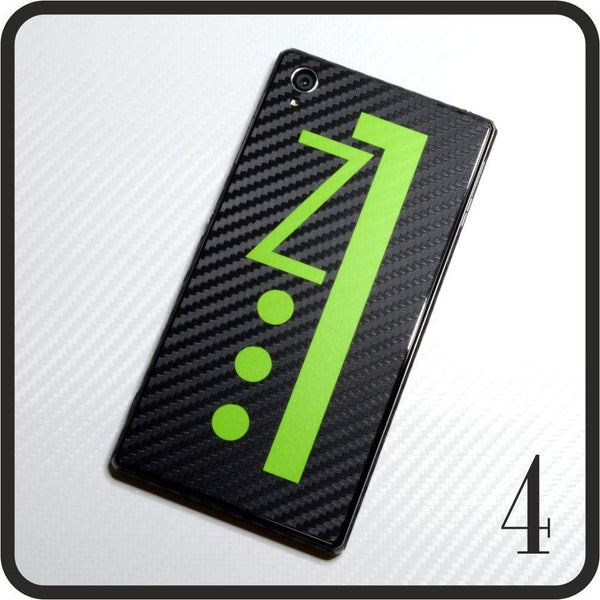 Sony Xperia Z1 carbon fibre and matt green skin design 4