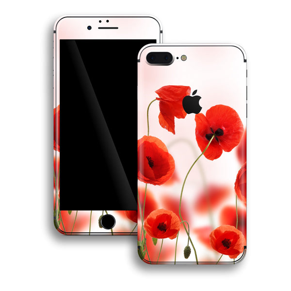 iPhone 8 PLUS Print Custom Signature Poppies Skin Wrap Decal by EasySkinz