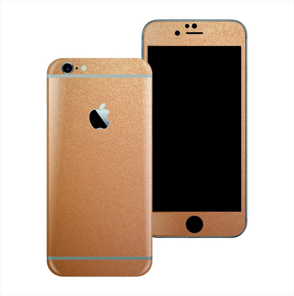 iPhone 6S 3M Copper Matt Matte Metallic Skin Wrap Sticker Cover Protector Decal by EasySkinz