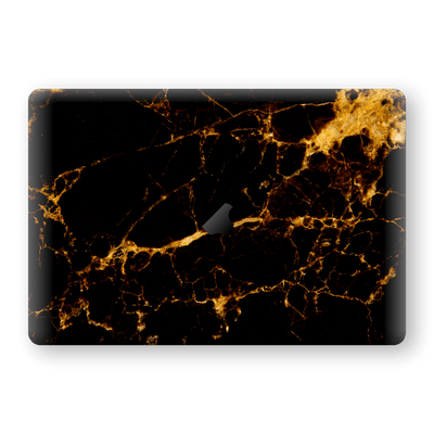 "MacBook Pro 13"" (2020) Print Custom Signature Marble Black Gold Skin Wrap Decal by EasySkinz - Design 2"