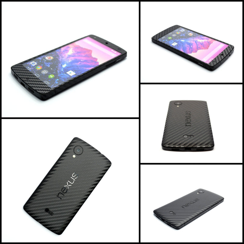 LG GOOGLE Nexus 5 3D Textured CARBON Fibre Skin