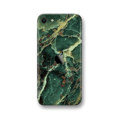 iPhone SE (2020) Print Custom Signature Marble GREEN Skin Wrap Decal by EasySkinz - Design 2
