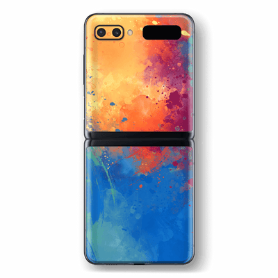 Samsung Galaxy Z Flip Print Printed Custom SIGNATURE SUNSET Watercolour Skin Wrap Sticker Decal Cover Protector by EasySkinz