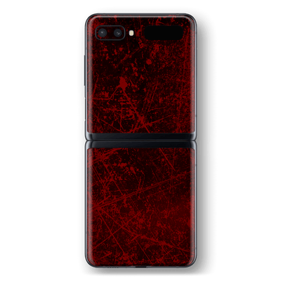 Samsung Galaxy Z Flip Print Printed Custom SIGNATURE Bloody Horror Skin Wrap Sticker Decal Cover Protector by EasySkinz