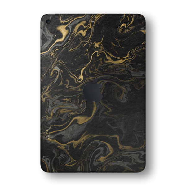 iPad MINI 5 (5th Generation 2019) SIGNATURE Grey-Gold Ink Paper Skin Wrap Sticker Decal Cover Protector by EasySkinz
