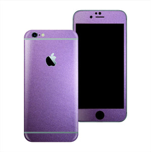 iPhone 6S Violet Matt Matte Metallic Skin Wrap Sticker Cover Protector Decal by EasySkinz