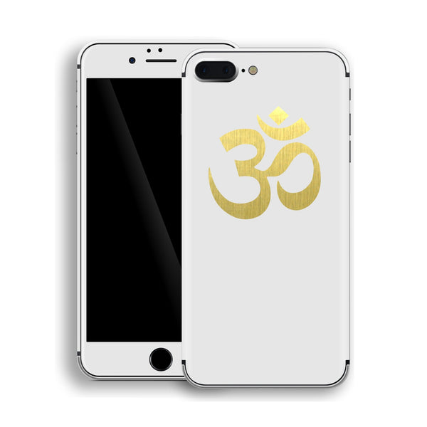 iPhone 8 Plus OM AUM Symbol Custom Design Matt White Skin Wrap Decal Protector Cover | EasySkinz