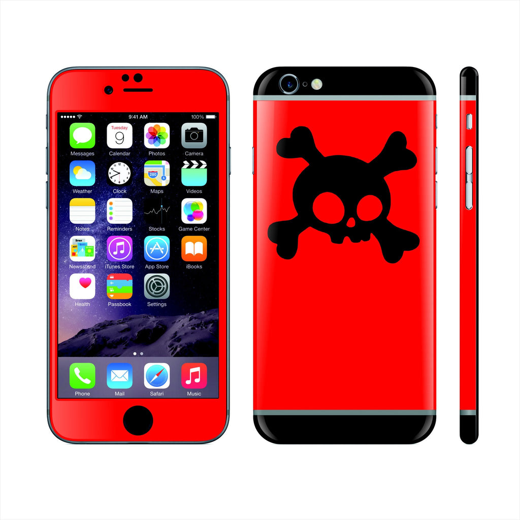 iPhone 6 Plus Custom Colorful Design Edition Skull 005 Skin Wrap Sticker Cover Decal Protector by EasySkinz