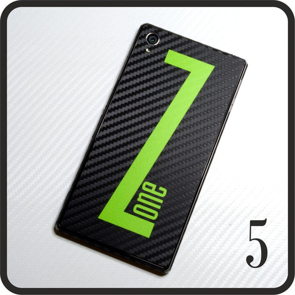 Sony Xperia Z1 carbon fibre and matt green skin design 5