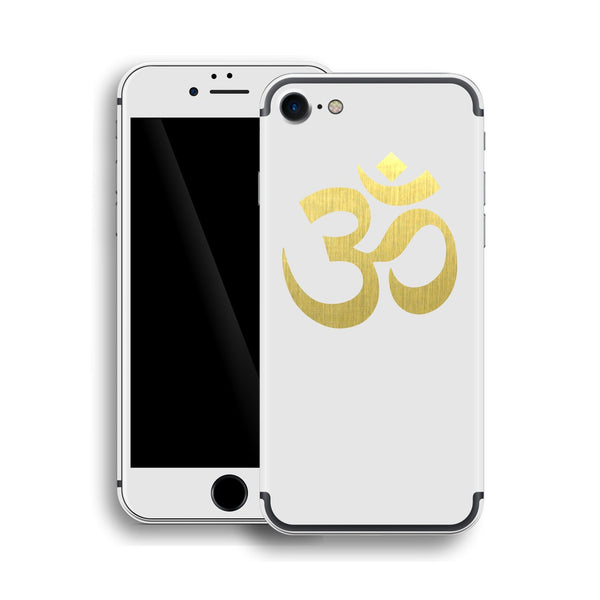 iPhone 7 OM AUM Symbol Custom Design Matt White Skin Wrap Decal Protector Cover | EasySkinz