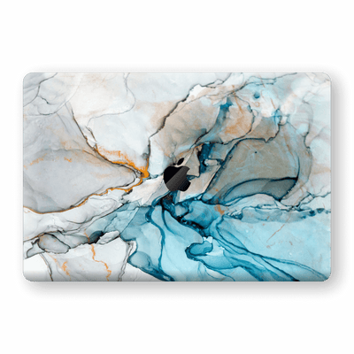 "MacBook PRO 16"" (2019) Print Custom Signature Marble TURQUOISE Skin Wrap Decal by EasySkinz - Design 2"