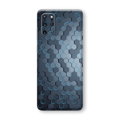 Samsung Galaxy S20+ PLUS SIGNATURE Blue HEXAGON Skin, Wrap, Decal, Protector, Cover by EasySkinz | EasySkinz.com