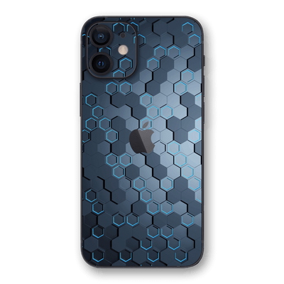 iPhone 12 mini SIGNATURE Blue HEXAGON Skin, Wrap, Decal, Protector, Cover by EasySkinz | EasySkinz.com