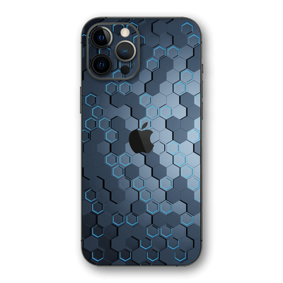 iPhone 12 Pro MAX SIGNATURE Blue HEXAGON Skin, Wrap, Decal, Protector, Cover by EasySkinz | EasySkinz.com