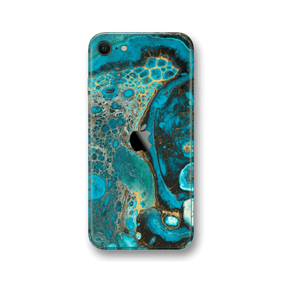 iPhone SE (2020) SIGNATURE Marbleised REEF Skin, Wrap, Decal, Protector, Cover by EasySkinz | EasySkinz.com
