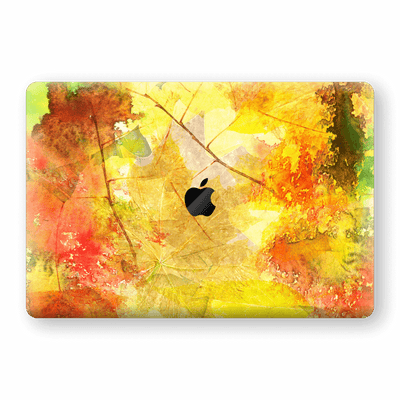 "MacBook Pro 15"" Touch Bar Print Custom Signature Autumn Watercolour Skin Wrap Decal by EasySkinz"