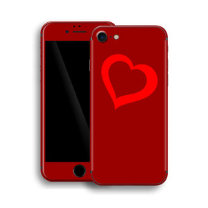 iPhone 8 HEART Custom Design Edition Skin Wrap Decal Protector Cover | EasySkinz
