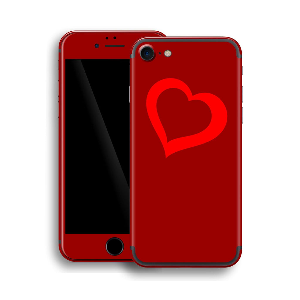 iPhone 7 HEART Custom Design Edition Skin Wrap Decal Protector Cover | EasySkinz