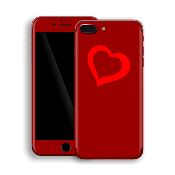 iPhone 8 Plus HEART Custom Design Edition Skin Wrap Decal Protector Cover | EasySkinz