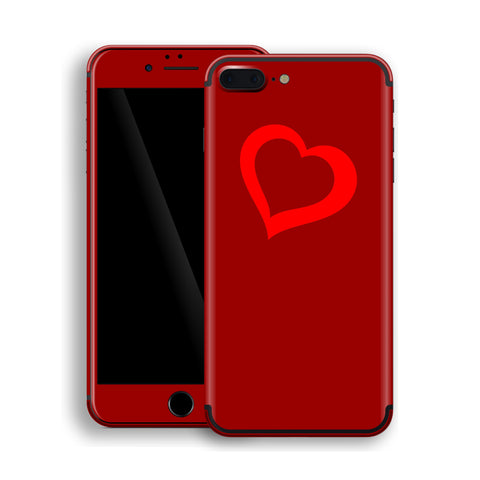 iPhone 7 Plus HEART Custom Design Edition Skin Wrap Decal Protector Cover | EasySkinz