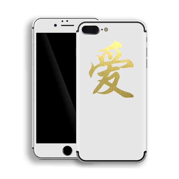 iPhone 7 Plus Chinese LOVE Symbol Custom Design Matt White Skin Wrap Decal Protector Cover | EasySkinz