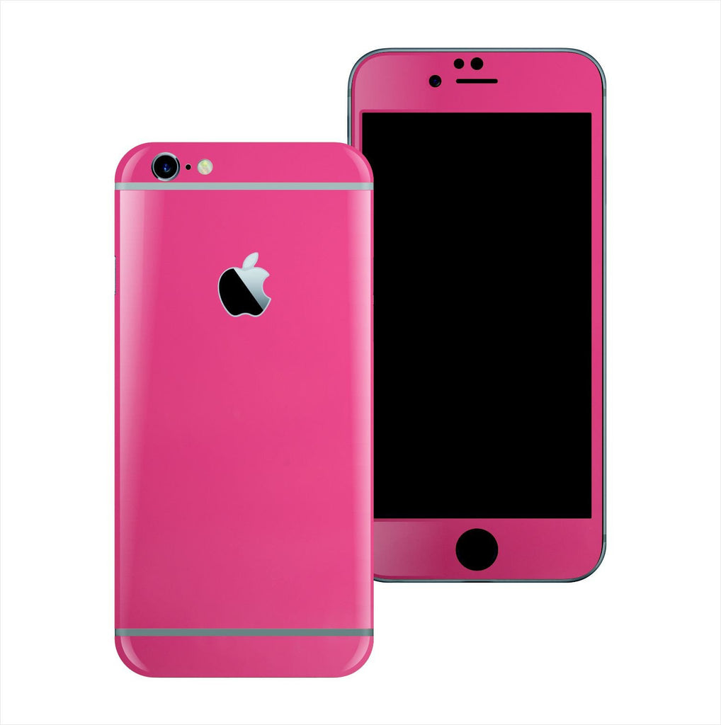 iPhone 6S Glossy Magenta Skin Wrap Sticker Cover Protector Decal by EasySkinz